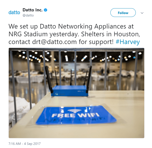Datto Disaster Recovery Team Tweet 2 - NRG Stadium.png